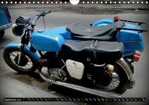 Motorrad-Gespanne in Kuba (Wandkalender 2019 DIN A4 quer)