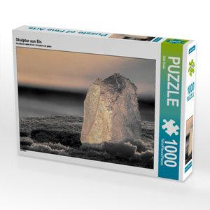 Skulptur aus Eis 1000 Teile Puzzle quer