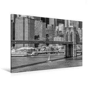 Premium Textil-Leinwand 120 cm x 80 cm quer NEW YORK CITY Brookl
