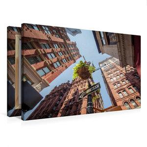 Premium Textil-Leinwand 75 cm x 50 cm quer One Way - New York