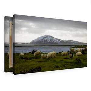 Premium Textil-Leinwand 75 cm x 50 cm quer Mývatn