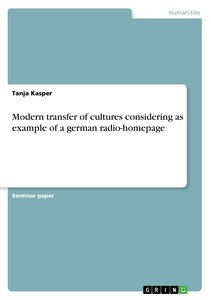 Modern transfer of cultures considering as example of a german r