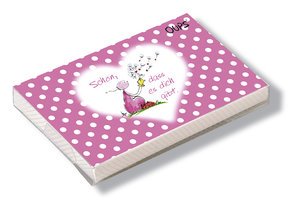 Oups Kärtchenbox rosa - Schön, dass es dich gibt