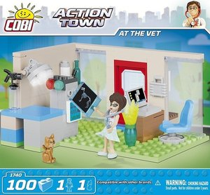 COBI 1740 - ACTION TOWN, At the vet, Tierarztpraxis, Bausatz, 10