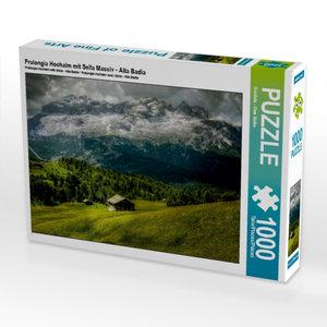 Pralongia Hochalm mit Sella Massiv - Alta Badia 1000 Teile Puzzl