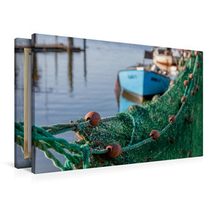 Premium Textil-Leinwand 90 cm x 60 cm quer Hafenromantik