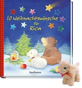 10 Weihnachtswünsche für Rica, mit Stoffschaf