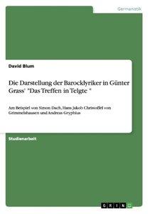 """Die Darstellung der Barocklyriker in Günter Grass' """"Das Treffen"""
