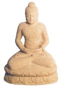 Buddha in Meditation Sandstein natur