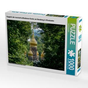 CALVENDO Puzzle Kuppeln der russisch-orthodoxen Kirche am Nerobe