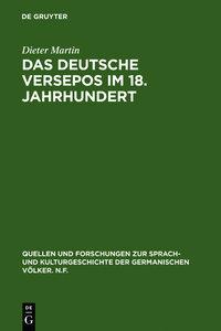 Das deutsche Versepos im 18. Jahrhundert