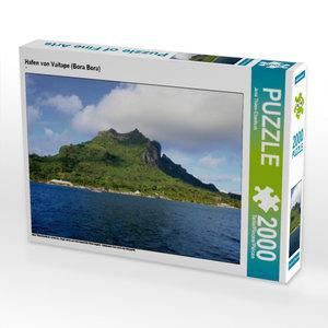 Hafen von Vaitape (Bora Bora) 2000 Teile Puzzle quer