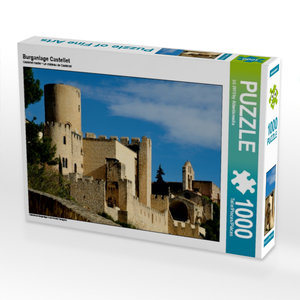 Burganlage Castellet 1000 Teile Puzzle quer