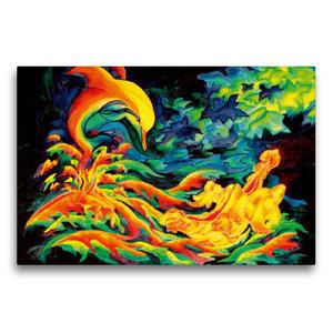 Premium Textil-Leinwand 75 cm x 50 cm quer Geflügelter Herbst