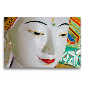 Premium Textil-Leinwand 75 cm x 50 cm quer U Min Thonze Pagode,