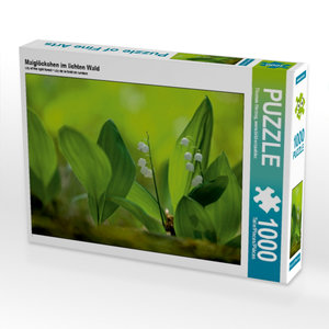Maiglöckchen im lichten Wald 1000 Teile Puzzle quer