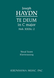 Te Deum in C Major, Hob. XXIIIC: 2 - Vocal Score