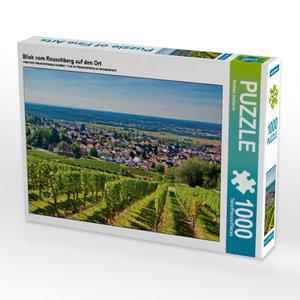 Blick vom Reuschberg auf den Ort 1000 Teile Puzzle quer