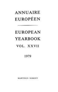 Annuaire Europeen / European Yearbook