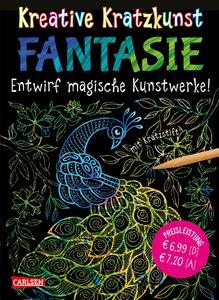 Kreative Kratzkunst: Fantasie: Set mit 10 Kratzbildern, Anleitun