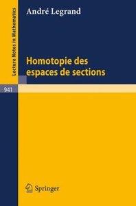Homotopie des Espaces de Sections