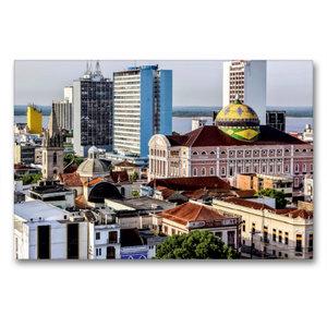 Premium Textil-Leinwand 90 cm x 60 cm quer Teatro Amazonas Mana