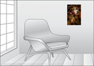 Premium Textil-Leinwand 30 cm x 45 cm hoch Cratena Peregrina