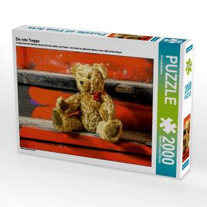 Die rote Treppe 2000 Teile Puzzle quer