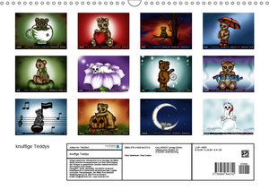 knuffige Teddys (Wandkalender 2019 DIN A3 quer)