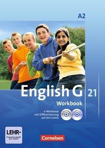 English G 21 A 2: 6. Schuljahr. Workbook mit CD-ROM (e-Workbook)