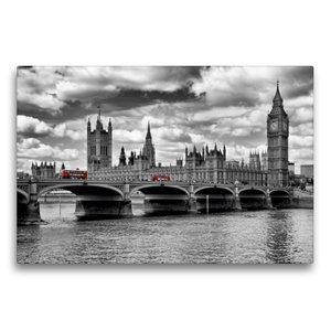 Premium Textil-Leinwand 75 cm x 50 cm quer LONDON Westminster Br