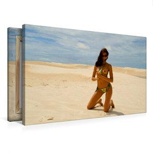 Premium Textil-Leinwand 75 cm x 50 cm quer Sommer in Rio