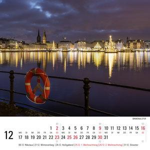 Aus Sehnsucht ... Hamburg - Tischkalender 2018 (15 x 15 cm)