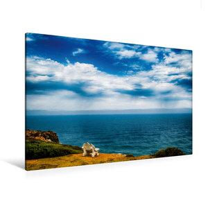 Premium Textil-Leinwand 120 cm x 80 cm quer Küste bei Hermanus -