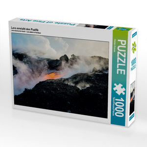 Lava erreicht den Pazifik 1000 Teile Puzzle quer
