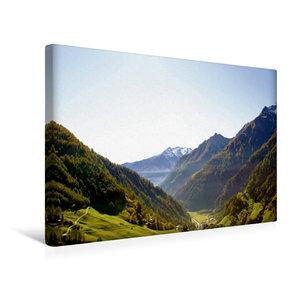Premium Textil-Leinwand 45 cm x 30 cm quer Blick ins Tal