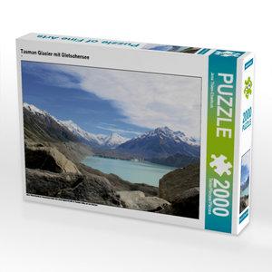 Tasman Glacier mit Gletschersee 2000 Teile Puzzle quer