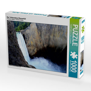 Der Yellowstone Wasserfall 1000 Teile Puzzle quer