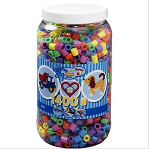 HAMA maxi Perlen Pastell Dose 1.400 Stück