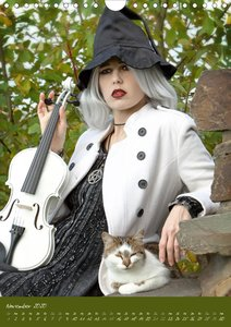 Weiße Geige auf Reisen