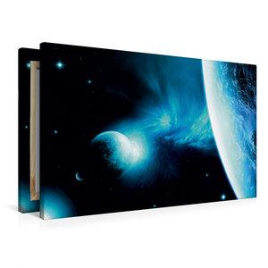 Premium Textil-Leinwand 90 cm x 60 cm quer Galaxie NCR 21