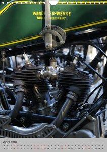 Motorrad Oldtimer - Motoransichten (Wandkalender 2020 DIN A4 hoc