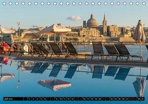 Valletta - Malta (Tischkalender 2018 DIN A5 quer)