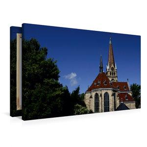 Premium Textil-Leinwand 90 cm x 60 cm quer Lutherkirche Bad Harz