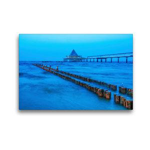 Premium Textil-Leinwand 45 cm x 30 cm quer Möwen zur blauen Stun