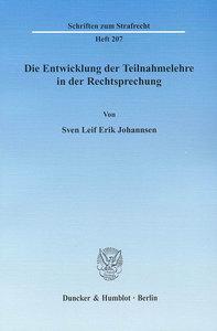 Die Entwicklung der Teilnahmelehre in der Rechtsprechung