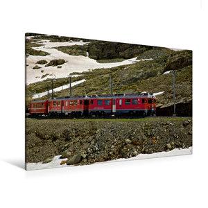 Premium Textil-Leinwand 120 cm x 80 cm quer Rhätische Bahn