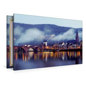 Premium Textil-Leinwand 120 cm x 80 cm quer Heidelberg - Altstad
