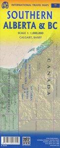 Touristische Karte Southern British Columbia & Alberta