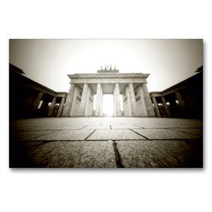 Premium Textil-Leinwand 90 cm x 60 cm quer Brandenburger Tor